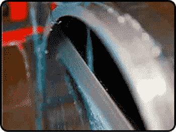 Q501 IC/Structural Bimetal Bandsaw Blade in action